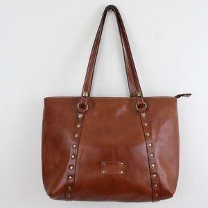 Patricia Nash Heritage Leather Tan Trivento Tote